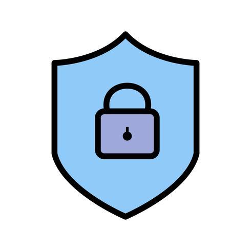 Icône de vecteur de protection en ligne
