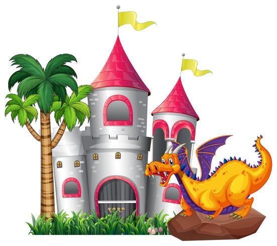 Dragon et château vecteur