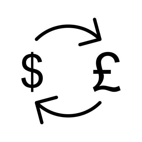 Bourse d'échange avec l'icône de vecteur de dollar
