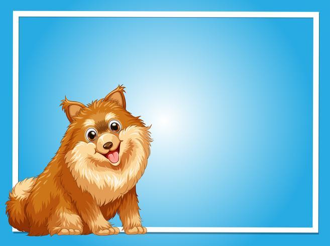 Modèle de frontière avec chien mignon vecteur