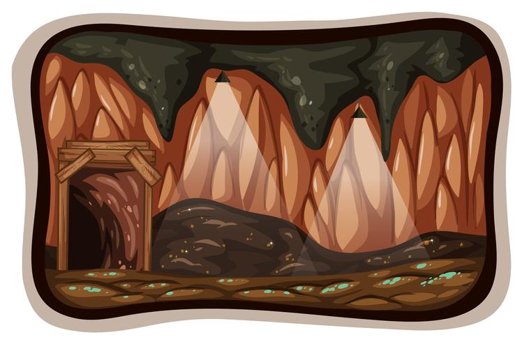 Une pierre de mine dans la nature vecteur