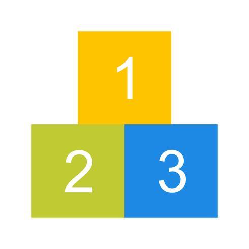 Icône de vecteur 123 cubes