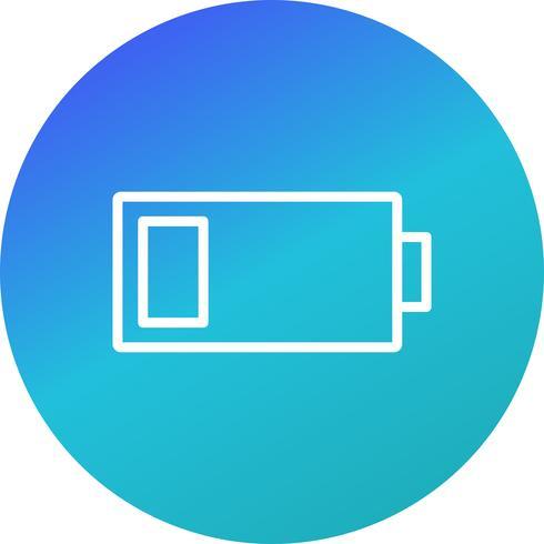 Icône de vecteur de batterie faible