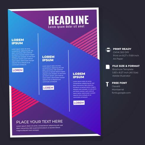 Modèle de mise en page de conception de prospectus de brochure d'entreprise vecteur