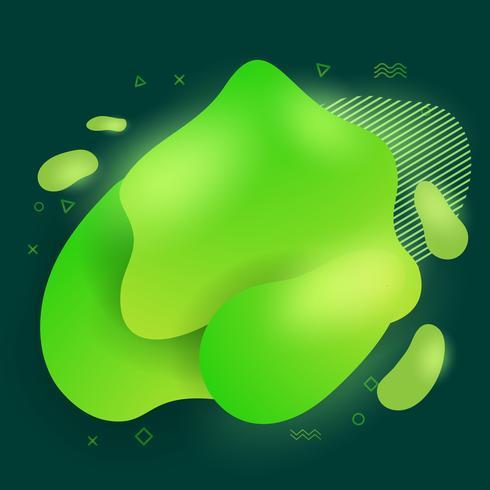 Éléments de conception des formes liquides abstraites modernes abstraites. Bannière de couleur dégradé lumineux dynamique vecteur