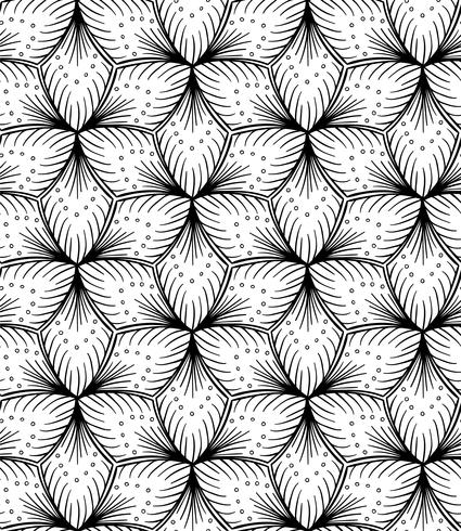 Dessin à la main transparente motif ligné. vecteur