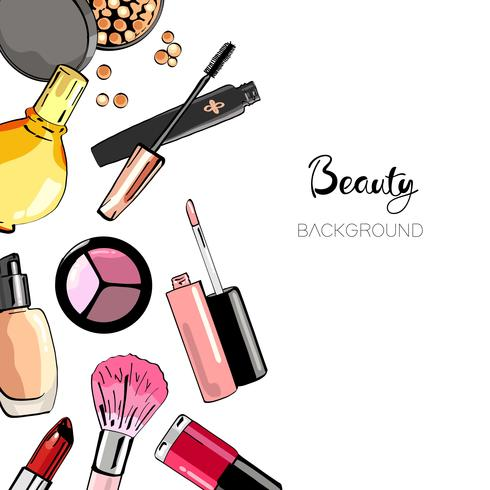 Fond de cosmétiques. vecteur