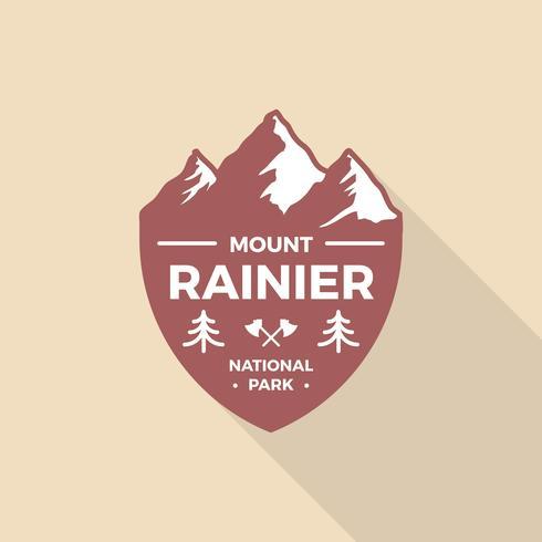 Modèle de logo vectoriel plat rétro badge vintage