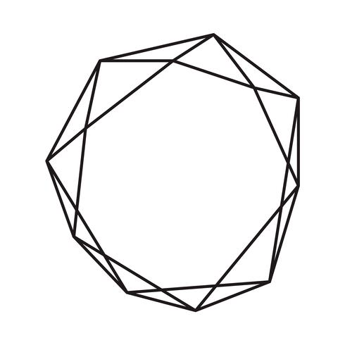 Diamant géométrique d'encre noire avec la place pour le texte. Modèle de conception moderne de vecteur pour invitation de mariage ou d'anniversaire, brochure, affiche ou carte de visite