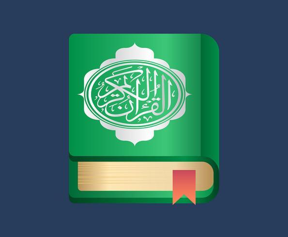 Illustration du Coran vecteur