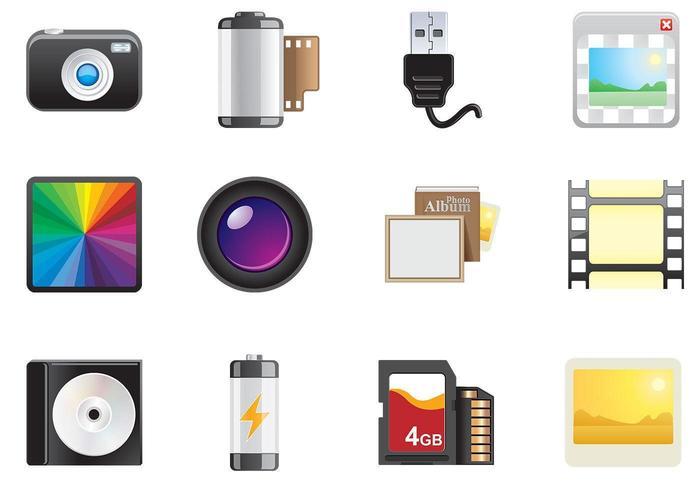 Pack vectoriel d'icônes photo