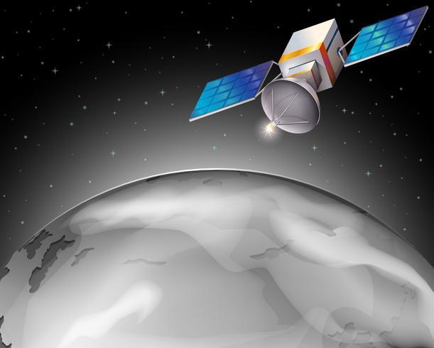 Un satellite dans l'espace extérieur vecteur