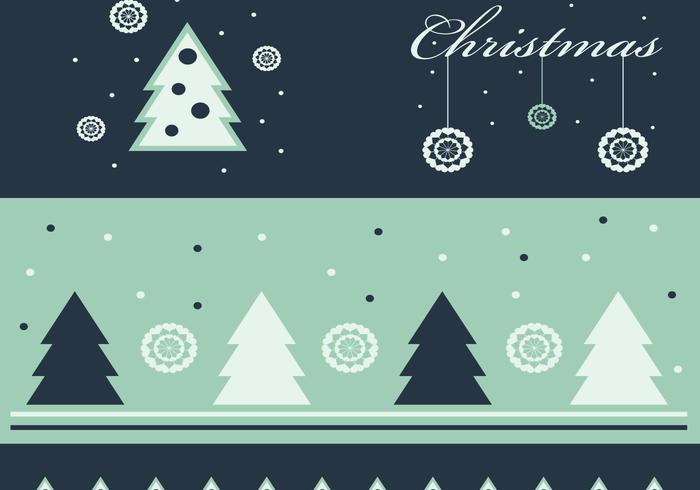 Fond d'écran vert et papier peint de Noël vecteur