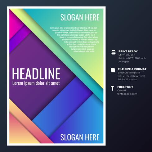 Modèles de conception de brochures graphiques vecteur