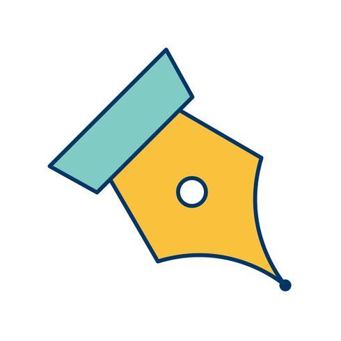 icône de vecteur plume