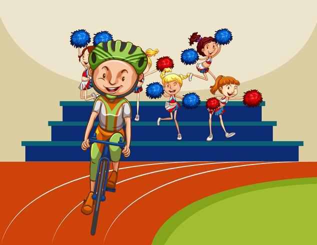 Cycliste vecteur