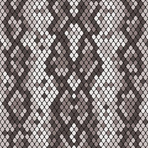 Modèle sans couture de peau de serpent. Texture réaliste de serpent ou d'une autre peau de reptile. Couleur grise. Illustration vectorielle vecteur