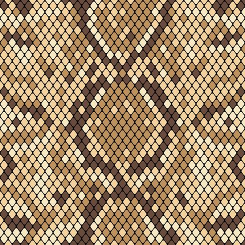 Modèle sans couture de peau de serpent. Texture réaliste de serpent ou d'une autre peau de reptile. Couleurs beiges et marron. Illustration vectorielle vecteur