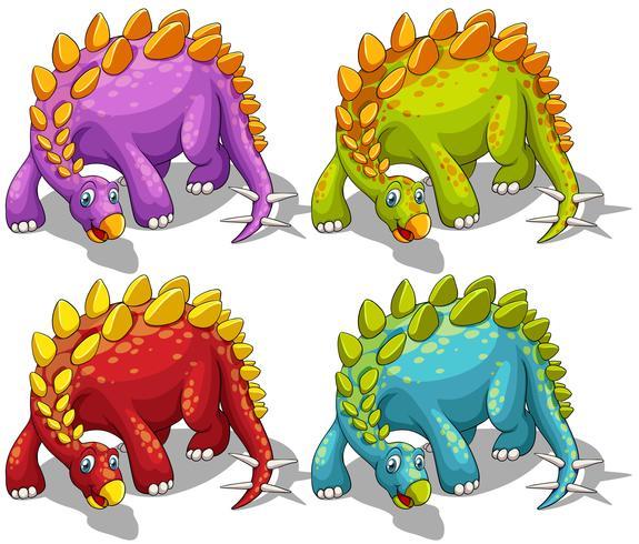 Dinosaures avec des pointes queue vecteur
