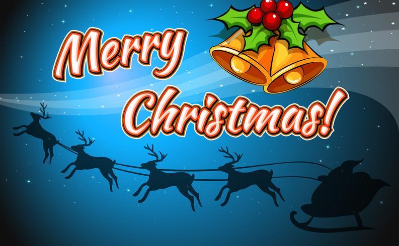 Une carte de joyeux Noël vecteur
