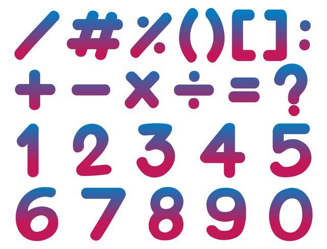 Chiffres et signes mathématiques vecteur