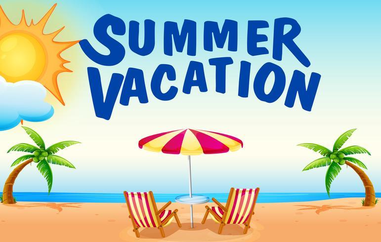 Vacances d'été sur la plage vecteur
