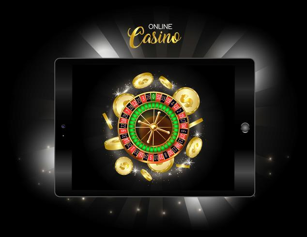 Bannière de conception de casino en ligne. vecteur