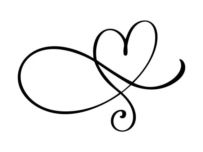 Coeur amour s'épanouir signe. Symbole romantique lié, rejoindre, passion et mariage. Modèle de t-shirt, carte, affiche. Élément plat design de la Saint-Valentin. Illustration vectorielle vecteur