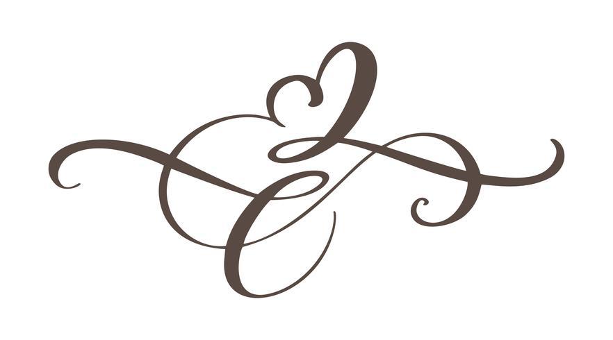 Signe d'amour de coeur pour toujours. Symbole Infinity romantique lié, rejoindre, passion et mariage. Modèle de t-shirt, carte, affiche. Élément plat design de la Saint-Valentin. Illustration vectorielle vecteur