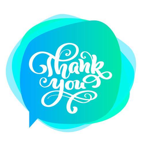 Merci inscription manuscrite. Lettrage dessiné à la main. Merci calligraphie. Carte de remerciement. Illustration vectorielle pour le jour de Thanksgiving vecteur