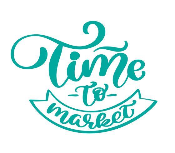 Temps de marché texte vintage Vector