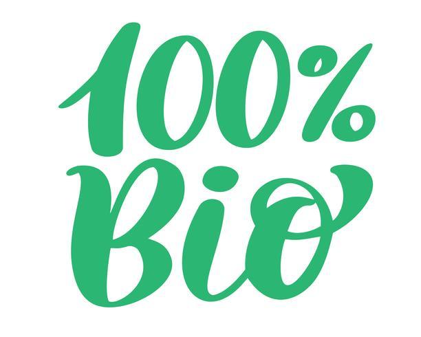 Création de logo vectoriel 100 Bio