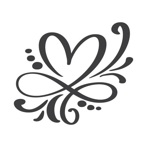 Signe d'amour de coeur pour toujours vecteur