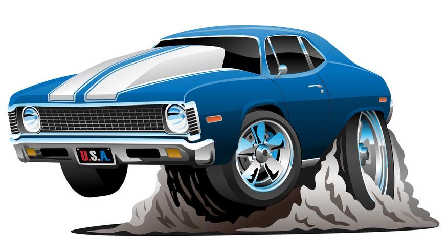 Illustration vectorielle de classique American Muscle Car Cartoon vecteur