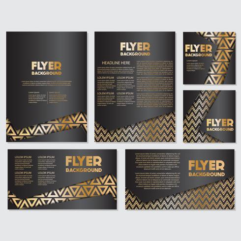 Modèle de conception de style bannière flyer or vecteur