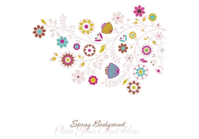 Fond d'écran floral de printemps vecteur