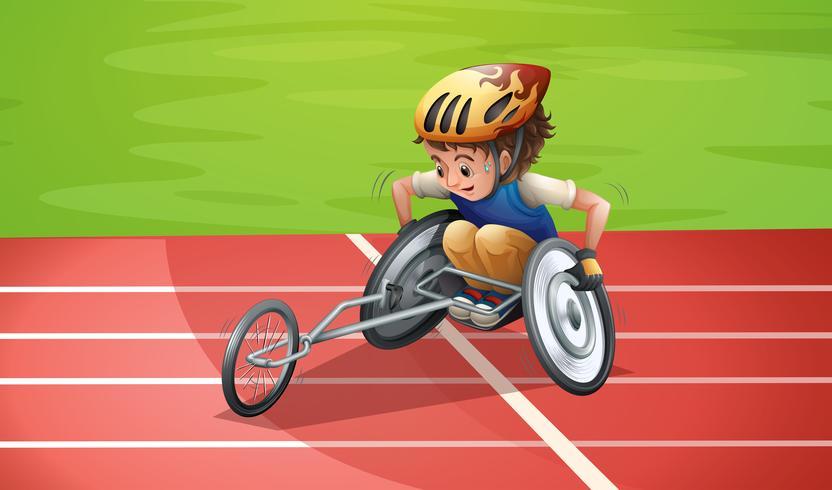 Athlètes Paralympiques au Stade vecteur