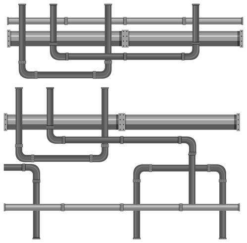 Une carte des systèmes de canalisation d'eau vecteur