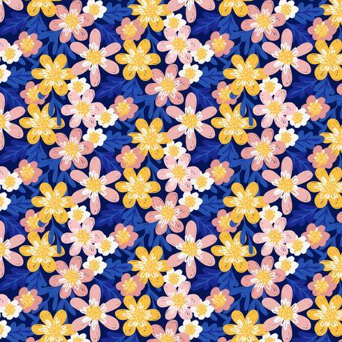 Motif floral main vecteur dessiner
