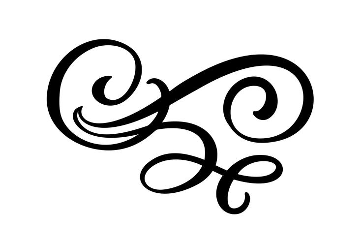 Éléments de design en filigrane de lignes florales vecteur