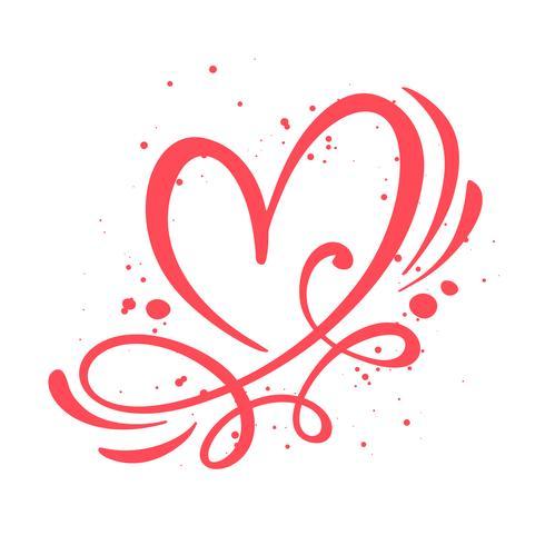 Signe d'amour coeur illustration vectorielle vecteur
