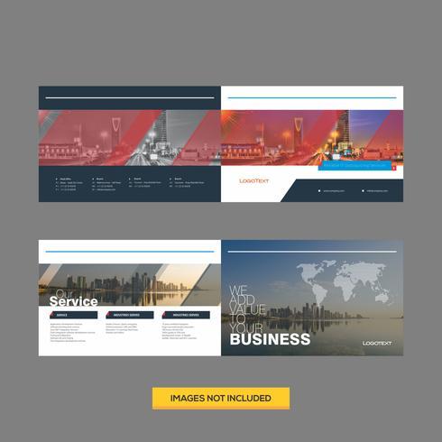 Modèle de conception de brochure d'entreprise moderne vecteur
