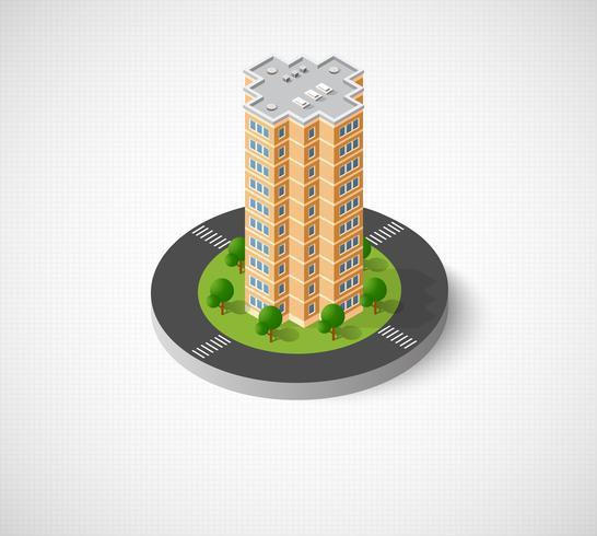 Ordinateur internet icône isométrique paysage 3D de vecteur