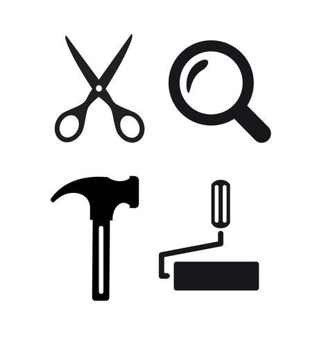 Idée d'entreprise logo artisanal. Outil de conception vecteur