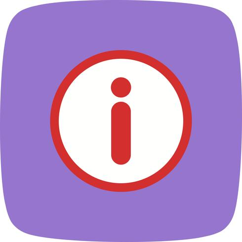 Icône de vecteur d'information
