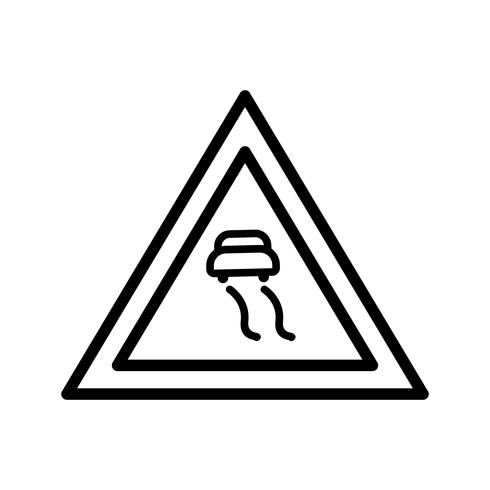 Icône de routes glissantes de vecteur