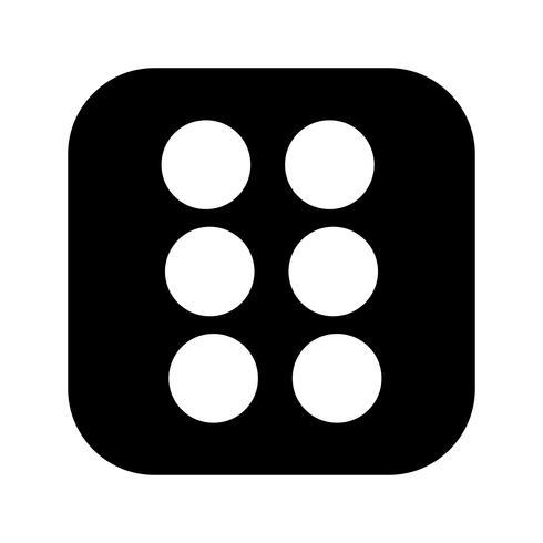 Dés six vecteur icône