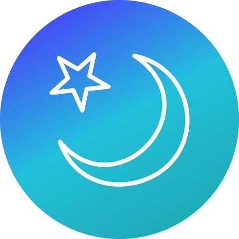 icône de vecteur croissant de lune