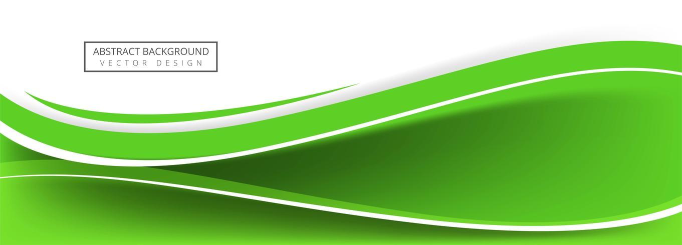 Conception de bannière abstraite vague verte créative vecteur