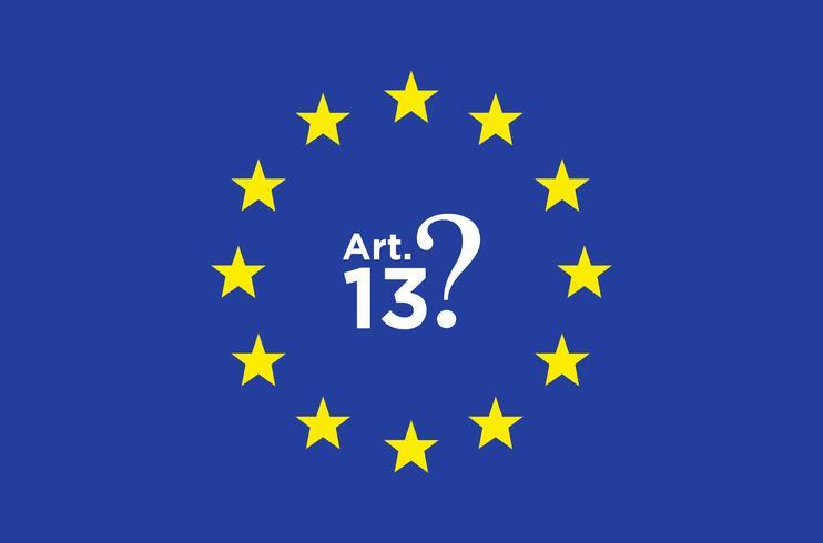 Article 13 illustration. vecteur